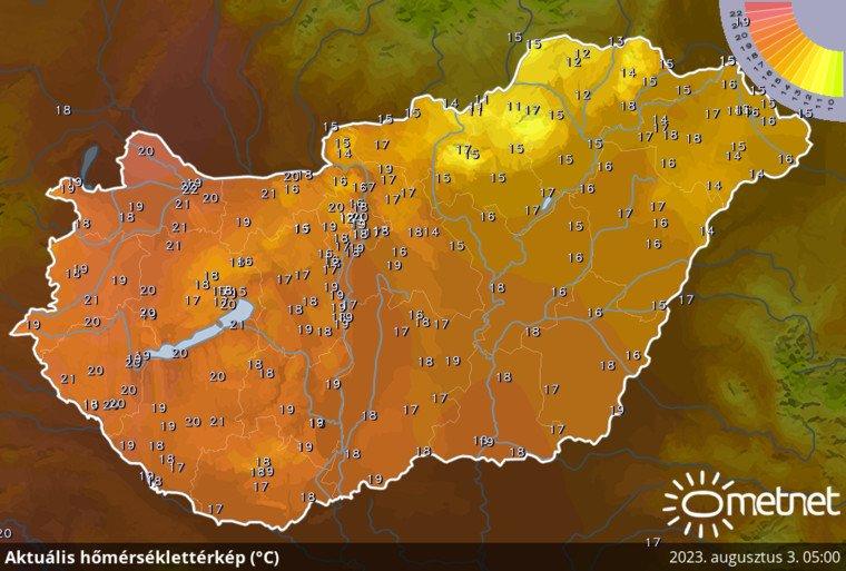 Aktuális hőmérséklet